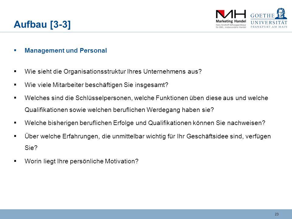 Aufbau [3-3] Management und Personal